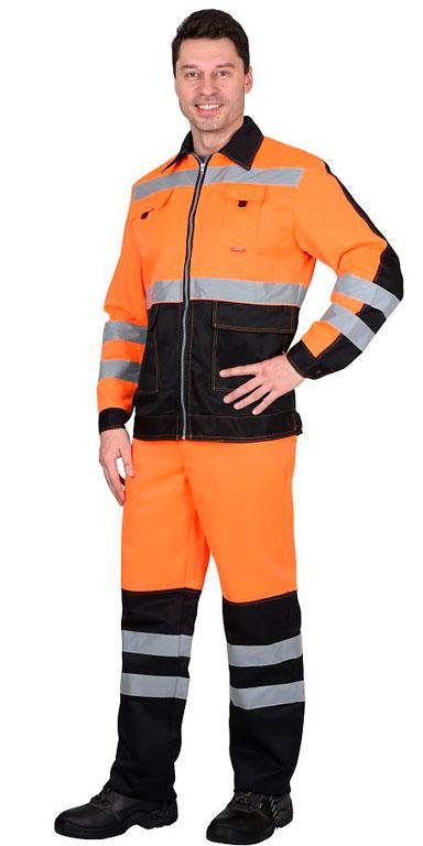 Костюм Магистраль-Люкс (оранжевый с чёрным)